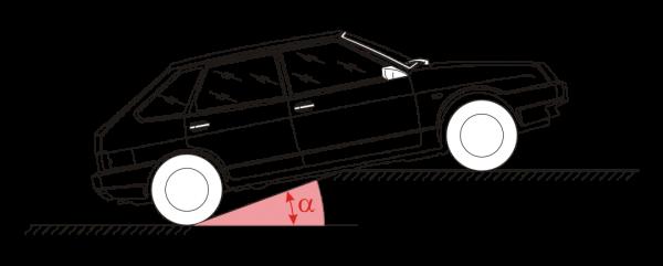 Угол переезда для автомобиля